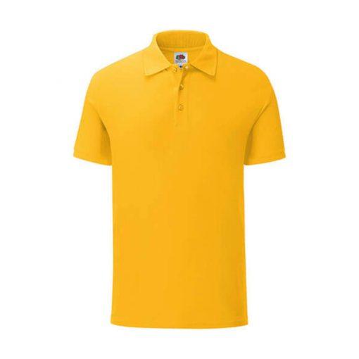 Uniszex rövid ujjú galléros póló Fruit of the Loom Iconic Polo -XL, Napraforgó sárga