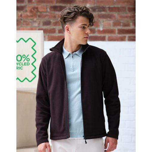 Férfi hosszú ujjú kabát Regatta Honestly Made Recycled Full Zip Microfleece S, Fekete
