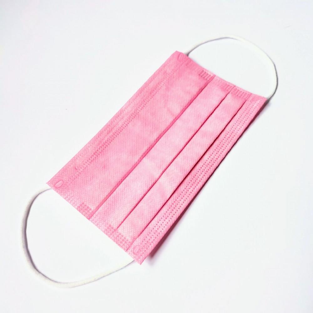 Rózsaszín szájmaszk csomagban, sebészeti szájmaszk, orvosi maszk, orvosi szájmaszk 1-50 db