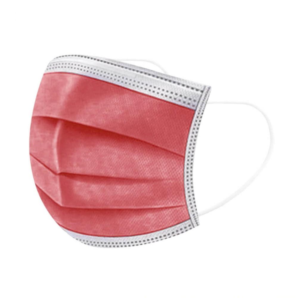Piros szájmaszk, sebészeti szájmaszk, orvosi maszk, orvosi szájmaszk 1-50 db