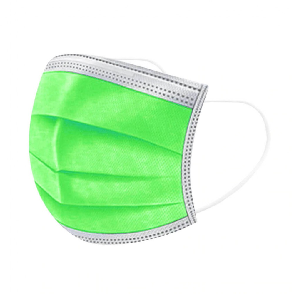 Világos zöld szájmaszk, sebészeti szájmaszk, orvosi maszk, orvosi szájmaszk 1-50 db