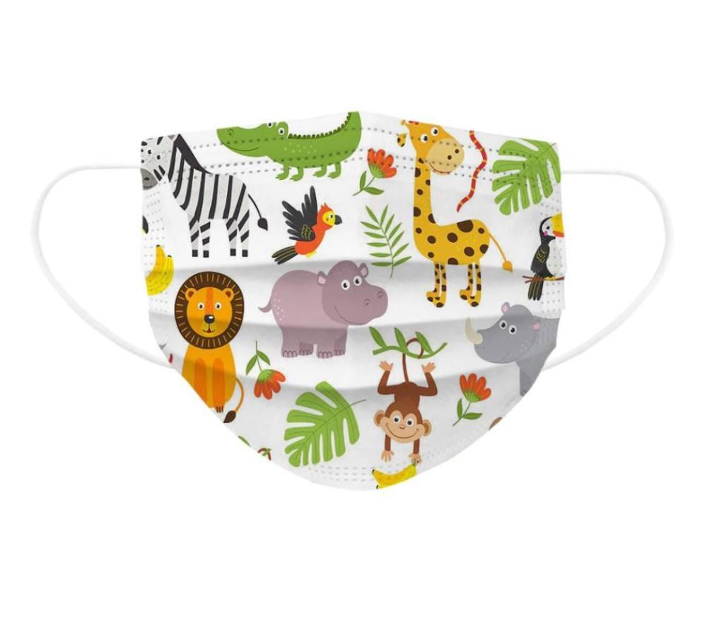 Gyerek szájmaszk, védőmaszk, állatos, rajzfilmes, mesefigurás, 3 rétegű gyermek maszk