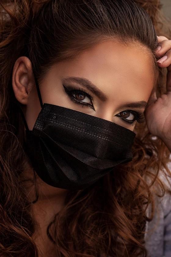 Elysium 4 rétegű prémium fekete maszk 50 db dobozonként, sebészeti szájmaszk csomagban, orvosi maszk, orvosi szájmaszk