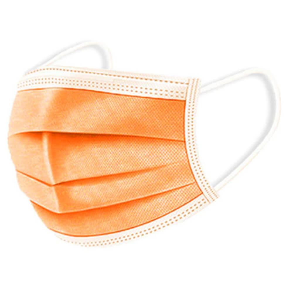 Narancssárga maszk, sárga szájmaszk, felnőtt sebészeti orvosi maszk, szájmaszk csomagban