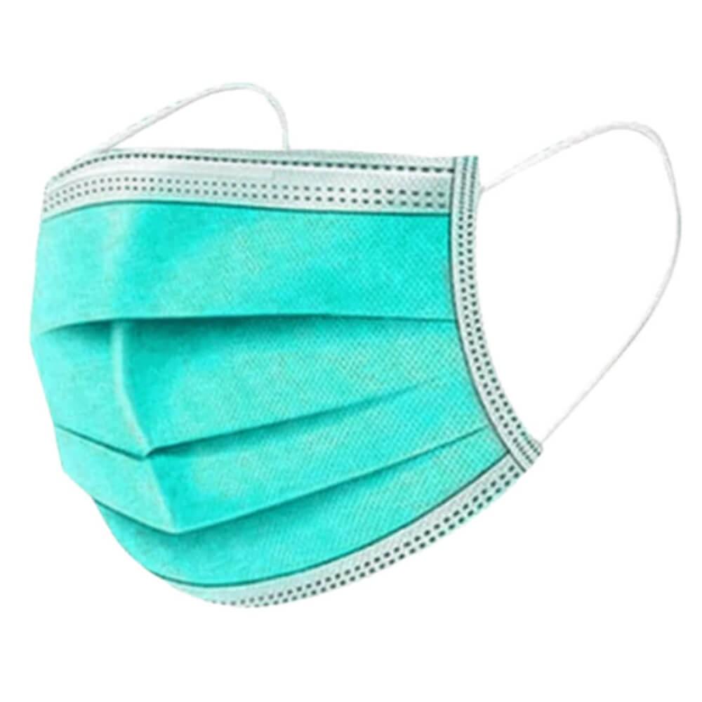 Mentazöld maszk, világos zöld, zöld szájmaszk,felnőtt sebészeti orvosi szájmaszk csomagban