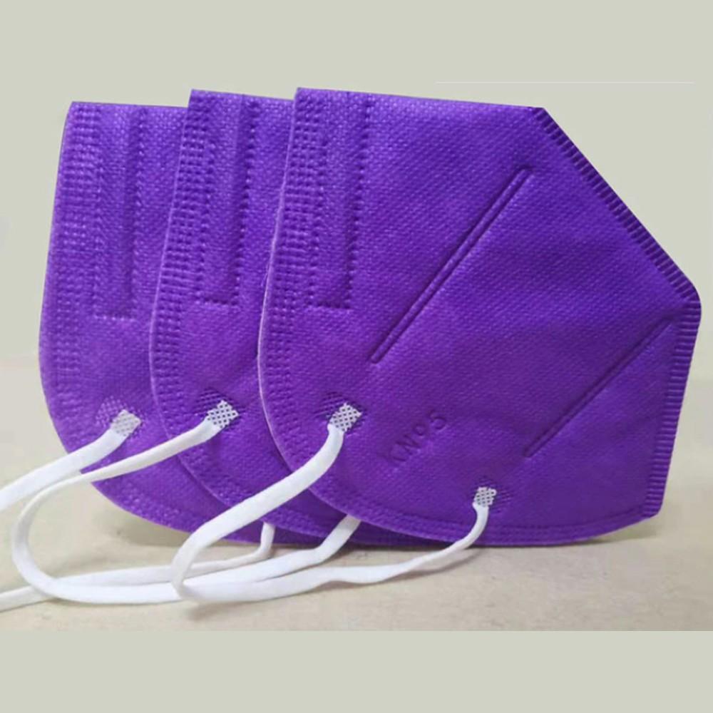 KN95, FFP2 lila maszk, felnőtt szájmaszk csomagban