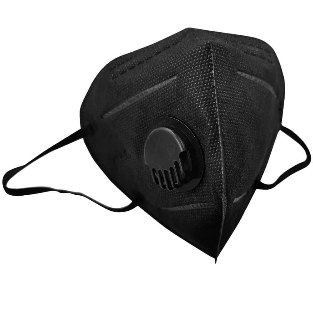 KN95, FFP2 fekete szelepes maszk szájmaszk csomagban