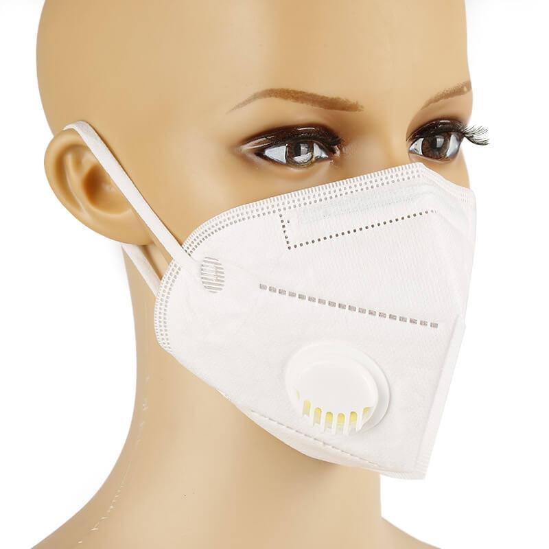 KN95, FFP2 fehér szelepes maszk szájmaszk csomagban