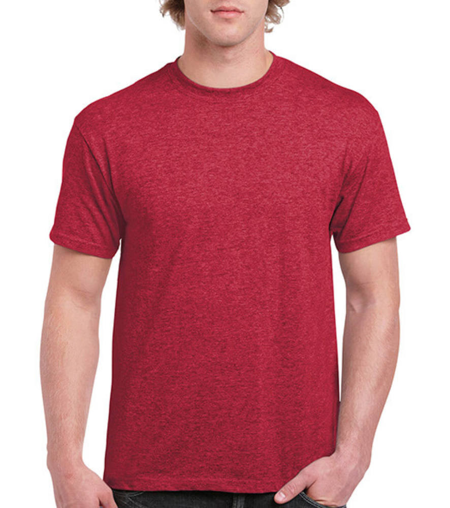Uniszex póló Rövid ujjú Gildan Ultra Cotton Adult T-Shirt - 2XL, Heather bíbor