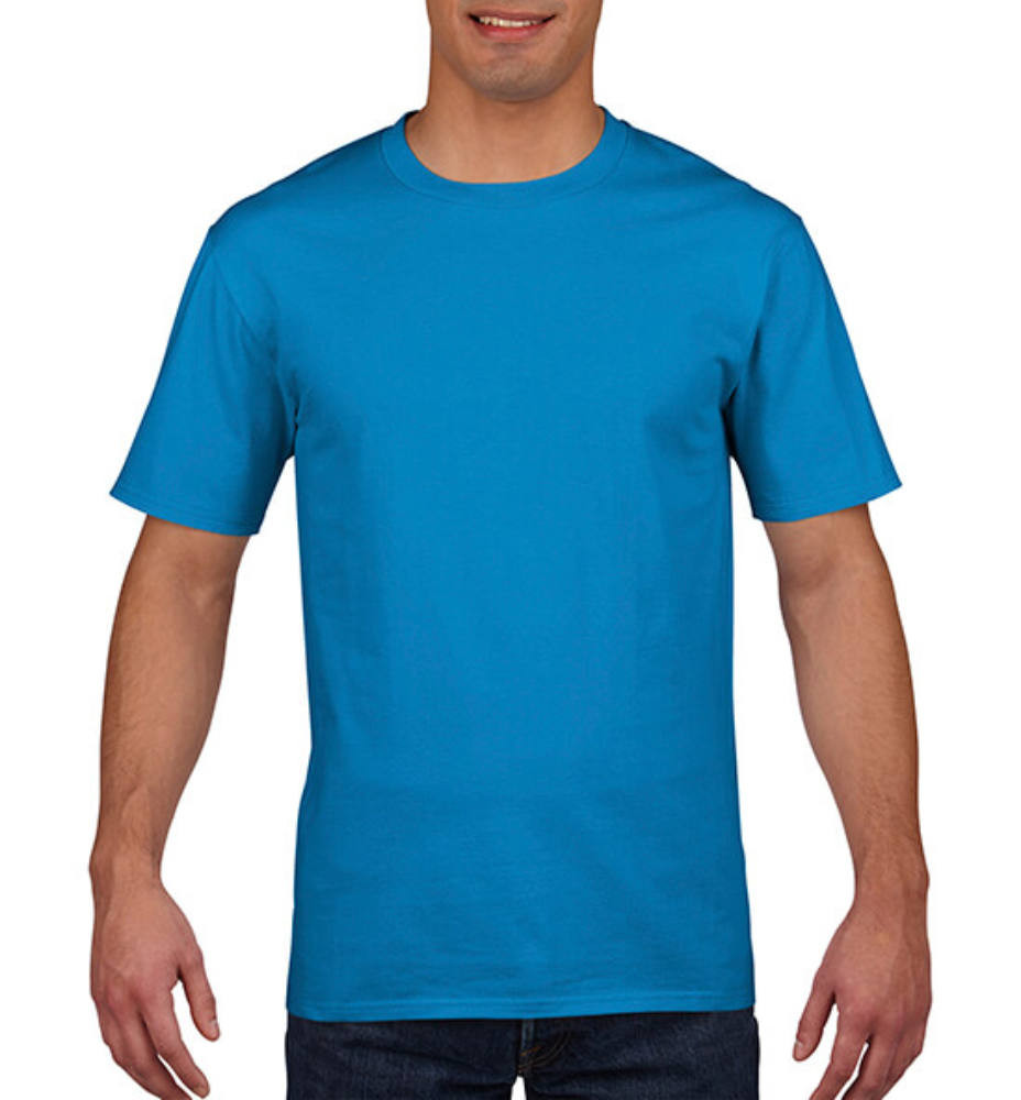 Férfi póló Rövid ujjú Gildan Premium Cotton Adult T-Shirt - L, Zafírkék