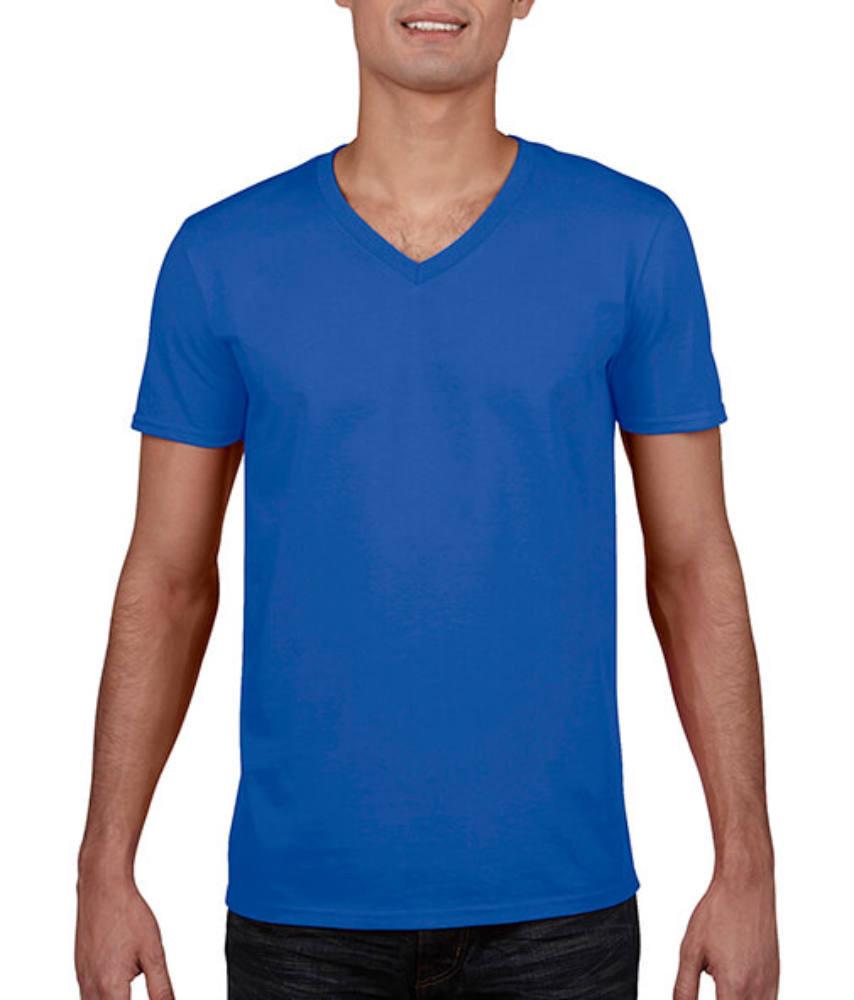 Férfi póló Rövid ujjú Gildan Gildan Mens Softstyle V-Neck T-Shirt - XL, Királykék