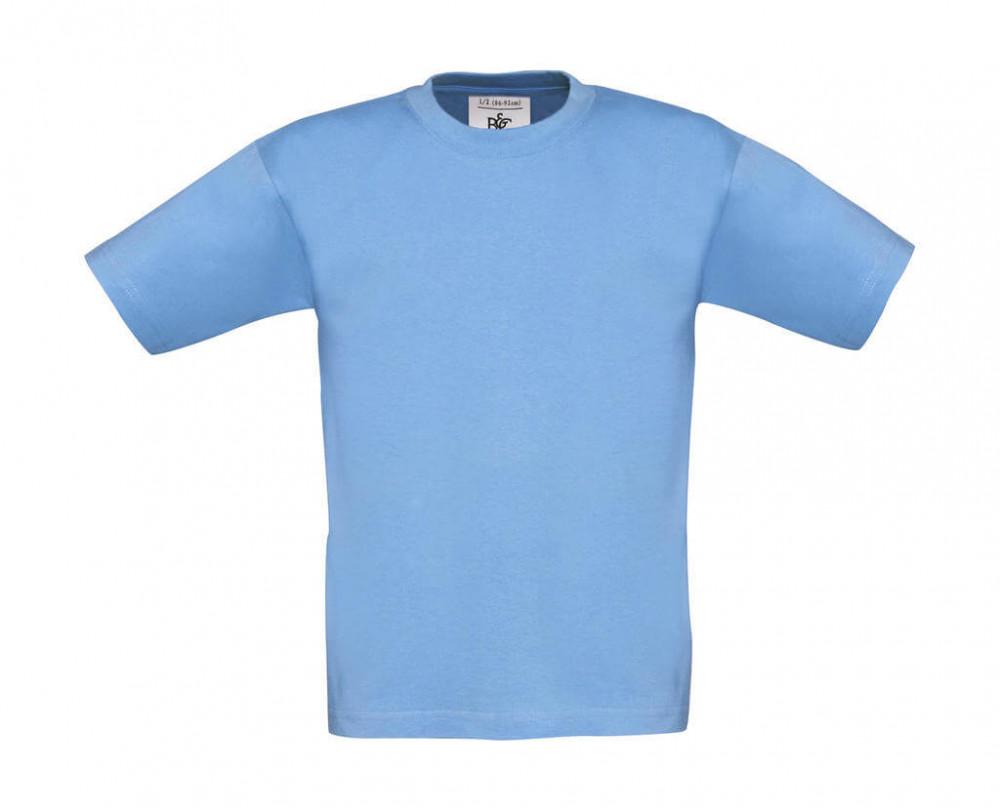 Csomag akciós póló (minimum 3 db) Gyerek rövid ujjú póló B and C Exact 150/kids T-Shirt 3/4 (98/104), Ég kék