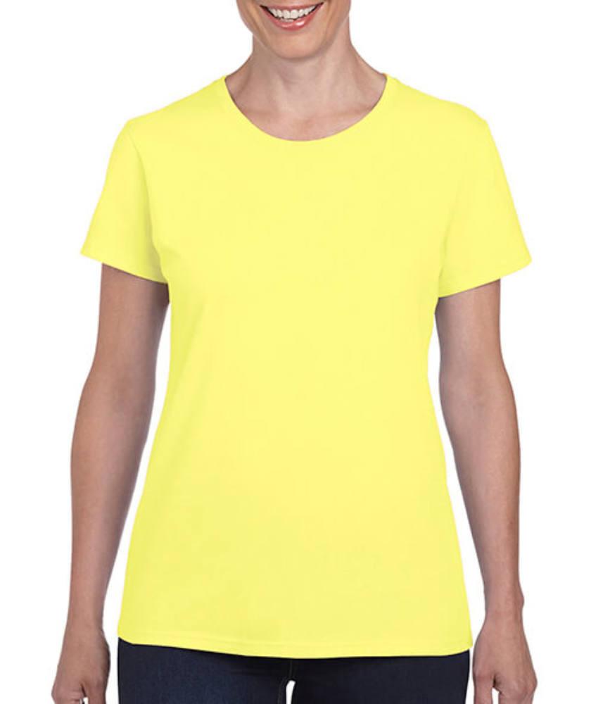 Női póló Rövid ujjú Gildan Ladies' Heavy Cotton? T-Shirt - M, Cornsilk (világossárga)