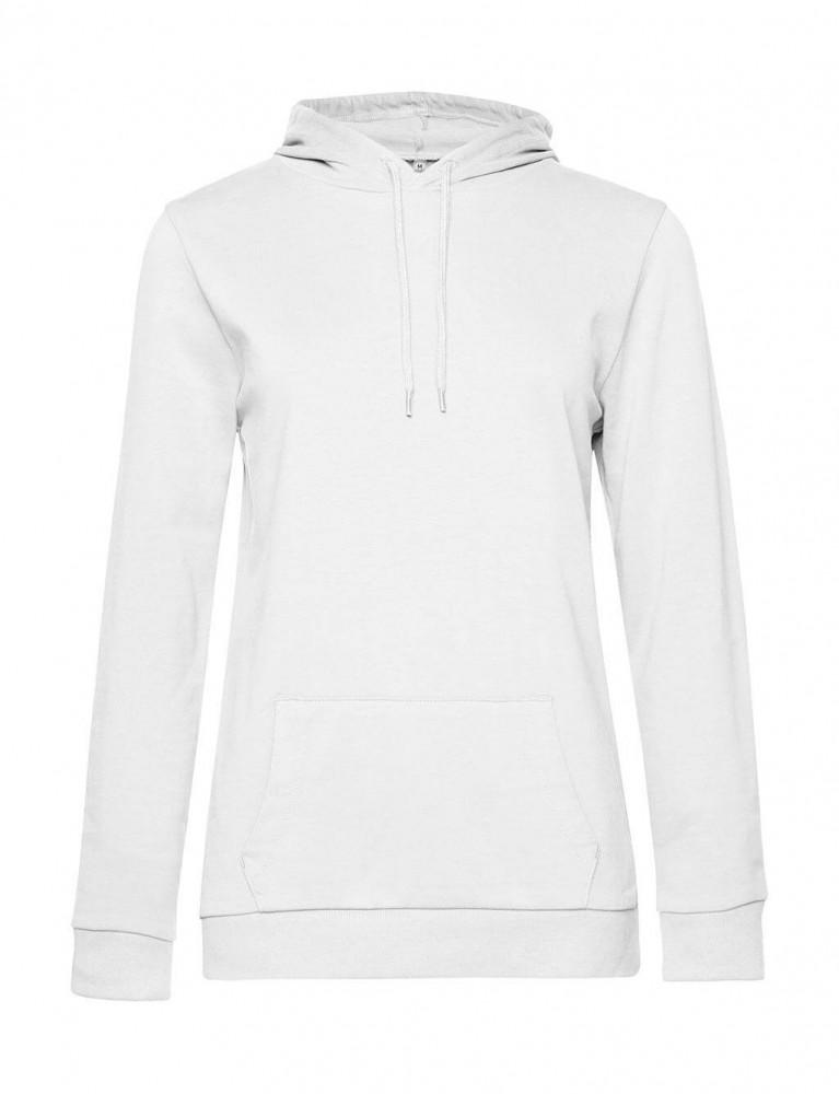 Női kapucnis hosszú ujjú pulóver B and C #Hoodie /women French Terry 2XL, Fehér