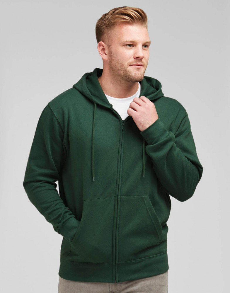 Férfi kapucnis hosszú ujjú pulóver SG Men's Zip Hood S, Zöld