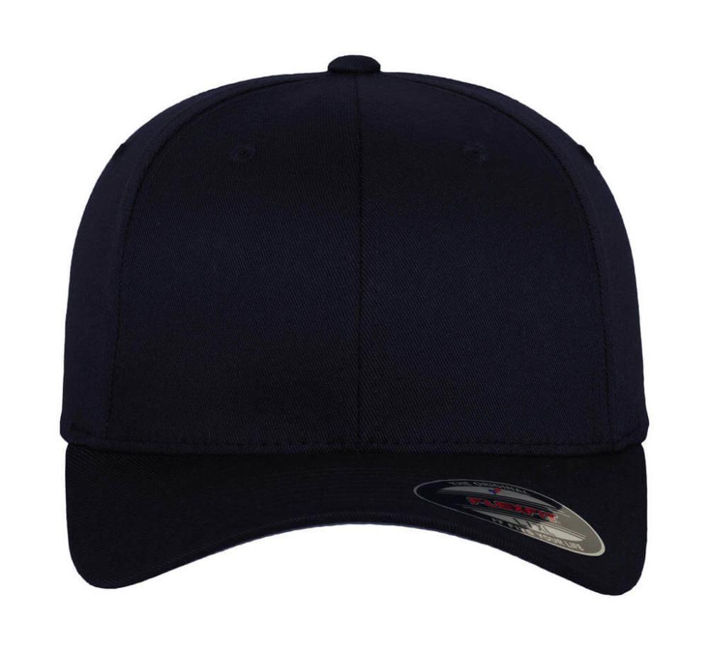 Uniszex Sapka Flexfit Fitted Baseball Cap -S/M, Sötétkék (navy)