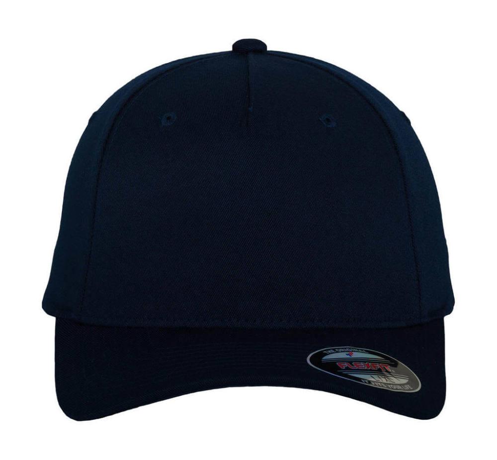 Uniszex Sapka Flexfit Fitted Baseball Cap -L/XL, Sötétkék (navy)