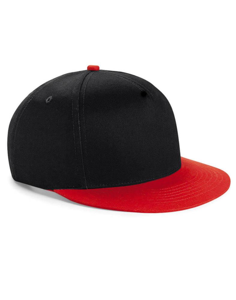 Gyerek sapka Beechfield Youth Size Snapback - One Size, Fekete/Piros
