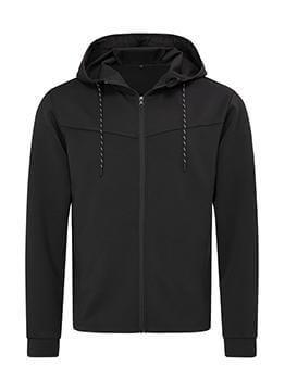 Férfi hosszú ujjú kabát Stedman Recycled Scuba Jacket Men 2XL, Opál fekete