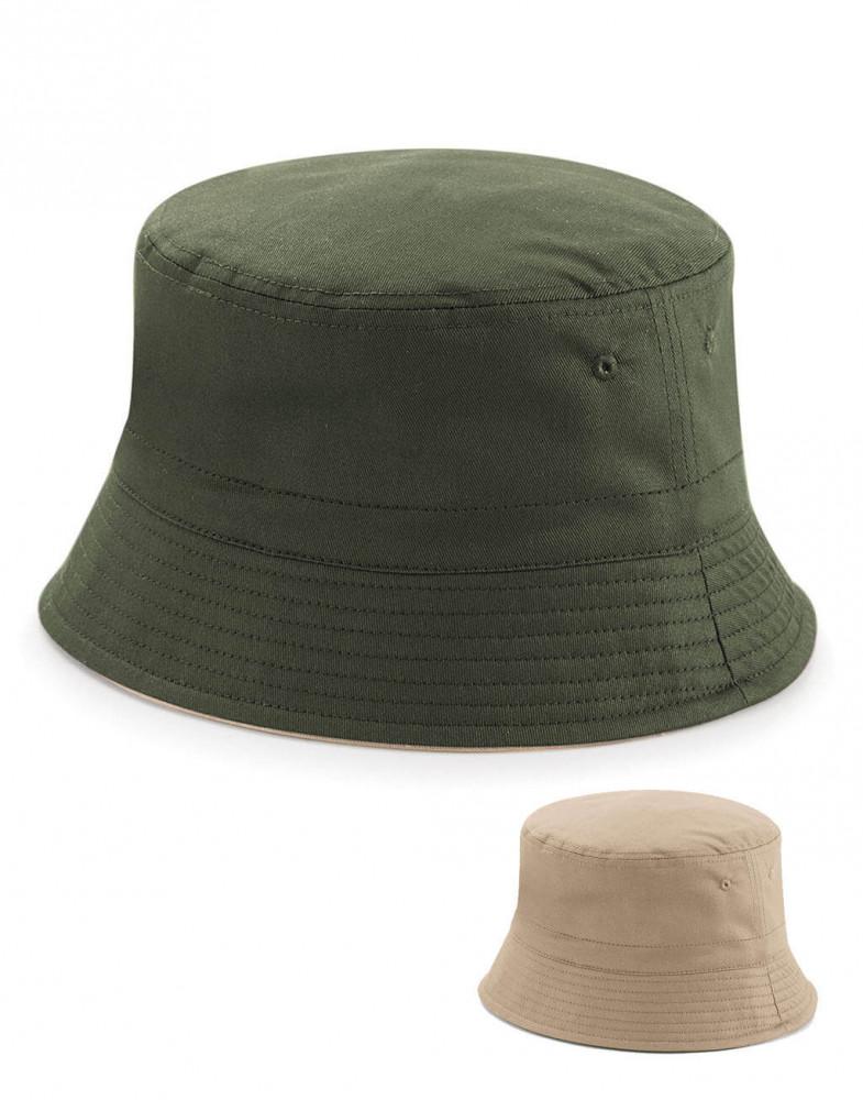 Uniszex sapka Beechfield Reversible Bucket Hat S/M, Fekete/Világos szürke
