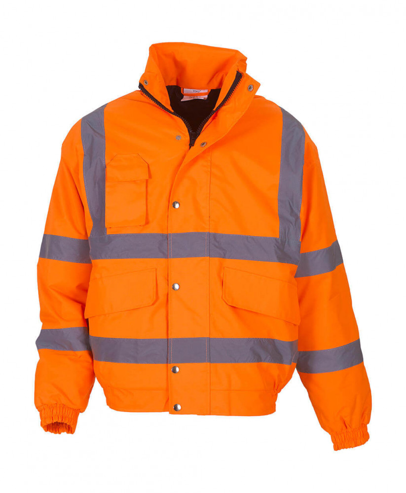 Férfi kabát munkaruha Yoko Fluo Bomber Jacket M, Fluo Narancs