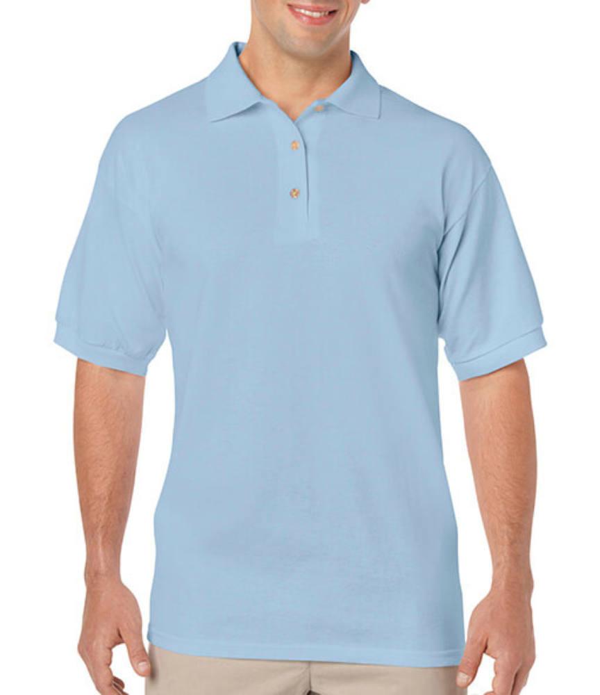 Uniszex Galléros póló Rövid ujjú Gildan DryBlend Adult Jersey Polo - S, Világos kék