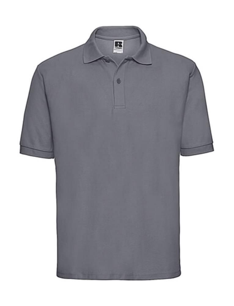 Férfi galléros póló rövid ujjú Russell Europe Polo Blended Fabric - XL, Konvoj szürke