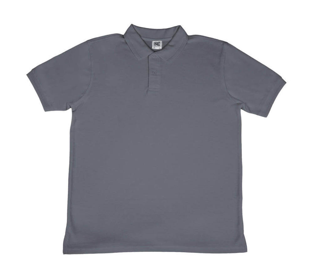 Férfi galléros póló rövid ujjú SG Poly Cotton Polo - M, Szürke