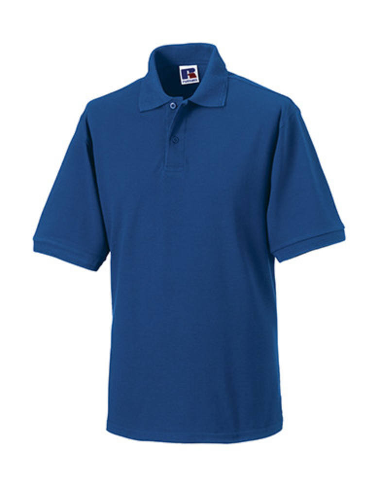 Férfi galléros munkaruha Russel Hard Wearing Polo Shirt 5-6XL - 5XL, Királykék