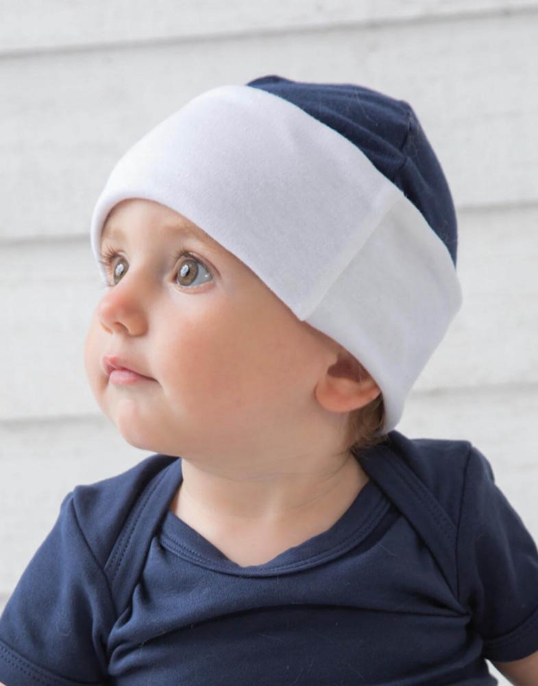 Bébi téli sapka BabyBugz Baby Reversible Hat Egy méret, Fehér/Heather szürke
