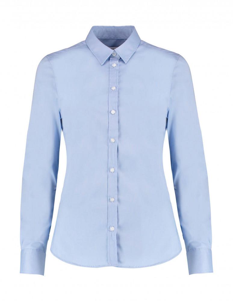 Női hosszú ujjú blúz Kustom Kit Women's Tailored Fit Stretch Oxford Shirt LS 2XS, Világos kék