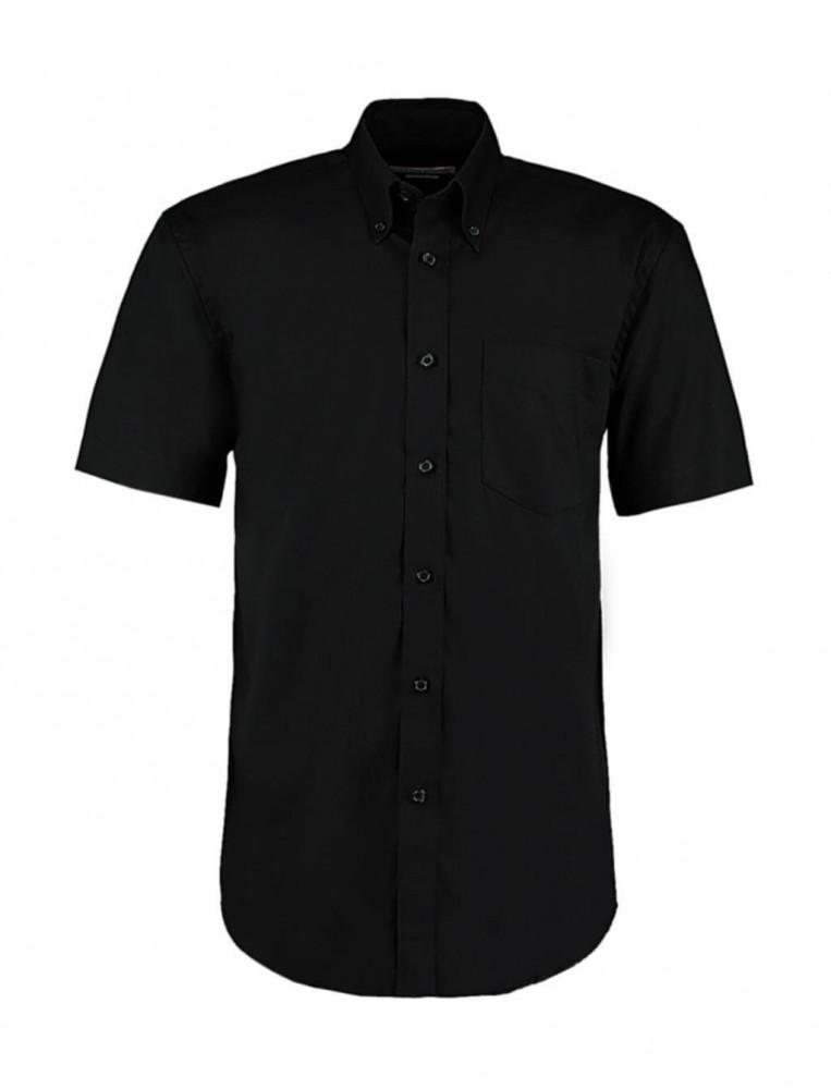 Férfi rövid ujjú Ing Kustom Kit Classic Fit Premium Oxford Shirt SSL 2XL, Fekete