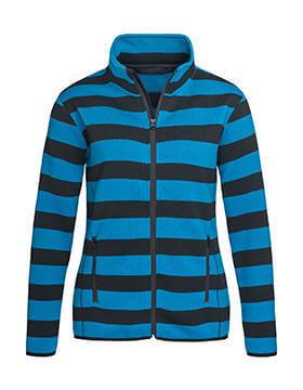 Női hosszú ujjú kabát Stedman Striped Fleece Jacket Women L, Brilliant kék