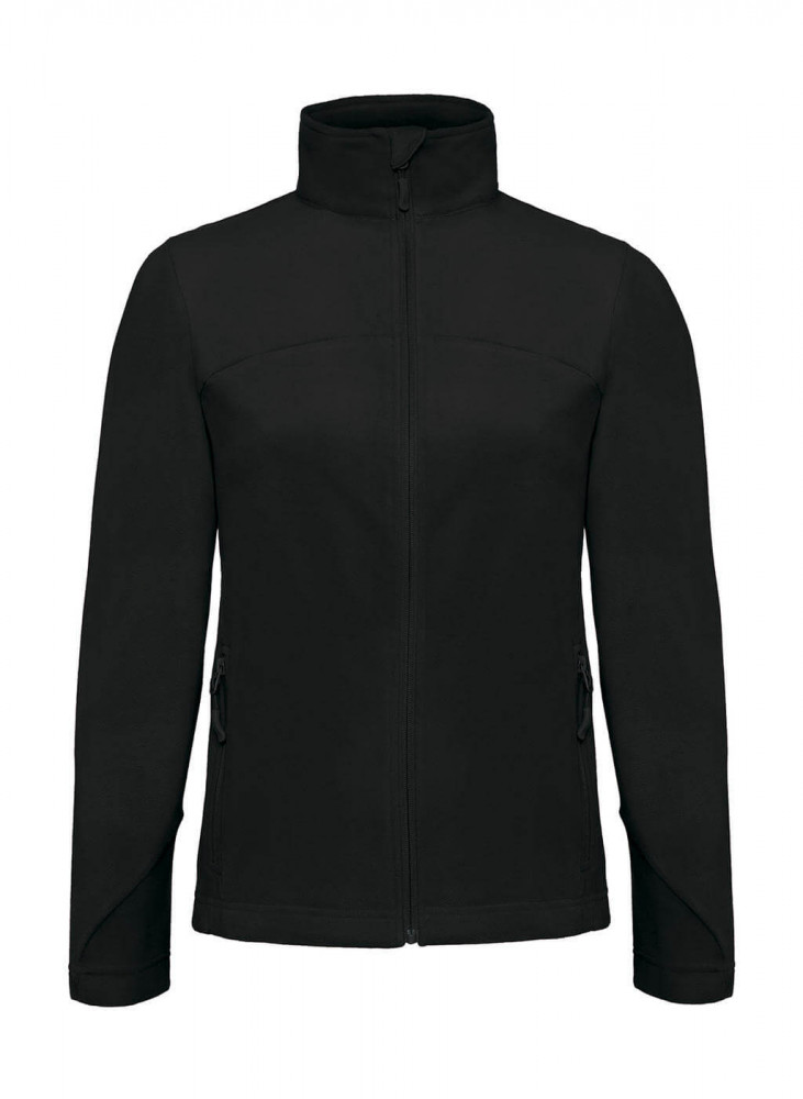 Női hosszú ujjú kabát B and C Coolstar/women Fleece Full Zip M, Fekete