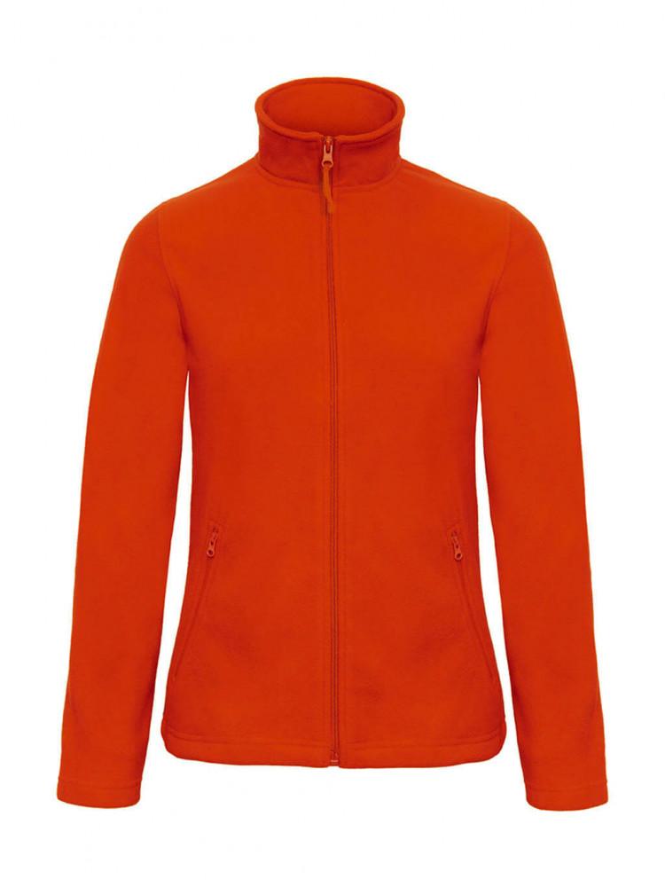 Női hosszú ujjú polár B and C ID.501/women Micro Fleece Full Zip S, Sütőtök sárga