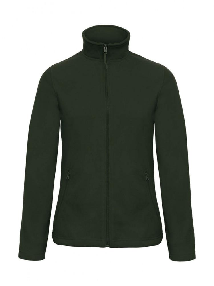 Női hosszú ujjú polár B and C ID.501/women Micro Fleece Full Zip S, Sötétzöld