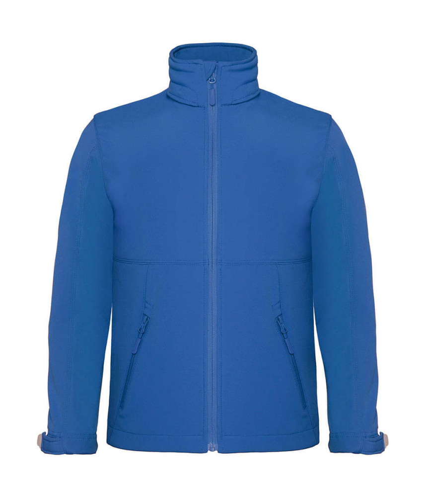 Gyerek kapucnis kabát B and C Hooded Softshell/kids 5/6 (110/116), Azur kék