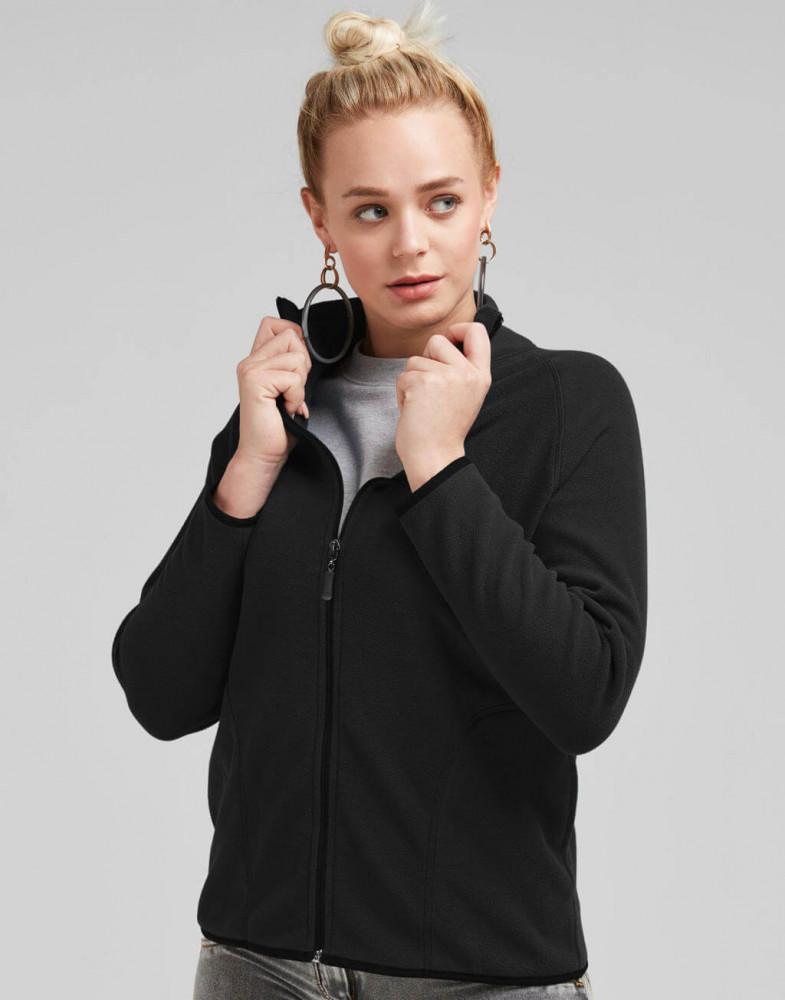 Női hosszú ujjú kabát SG Ladies' Full Zip Microfleece 2XL, Sötétkék (navy)