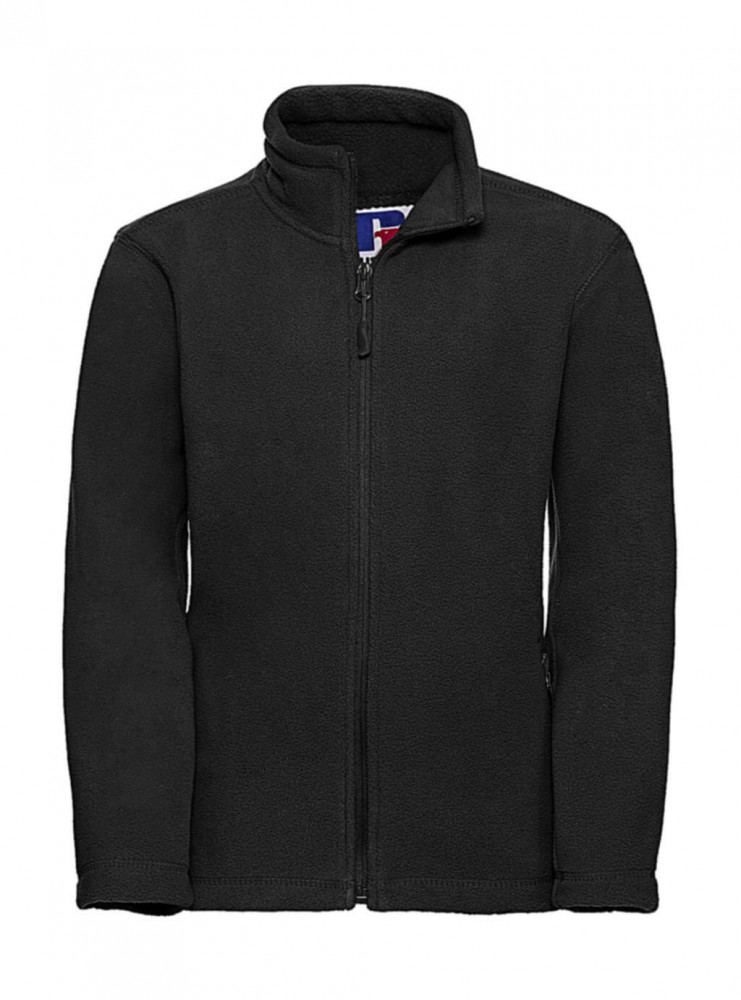 Gyerek hosszú ujjú kabát Russell Europe Kids' Full Zip Outdoor Fleece M (116/5-6), Fekete