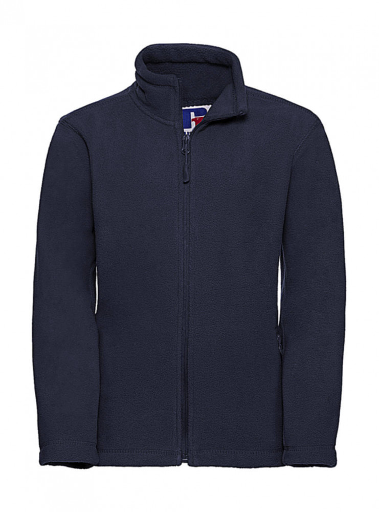 Gyerek hosszú ujjú kabát Russell Europe Kids' Full Zip Outdoor Fleece S (104/3-4), Sötétkék (navy)