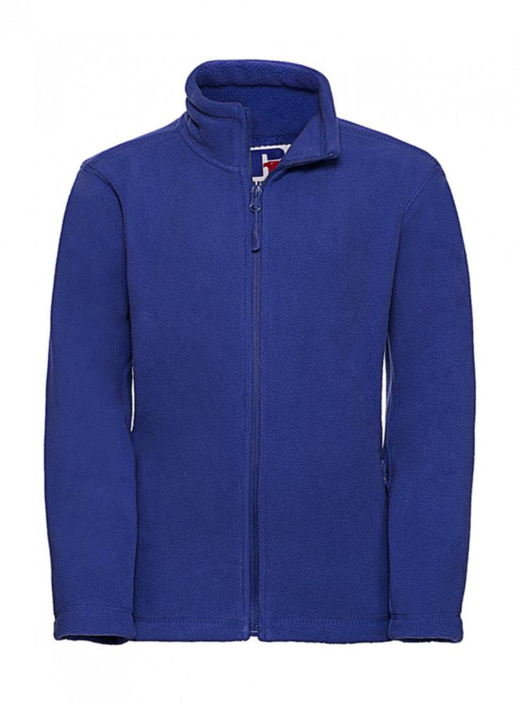 Gyerek hosszú ujjú kabát Russell Europe Kids' Full Zip Outdoor Fleece XL (140/9-10), Világos királykék