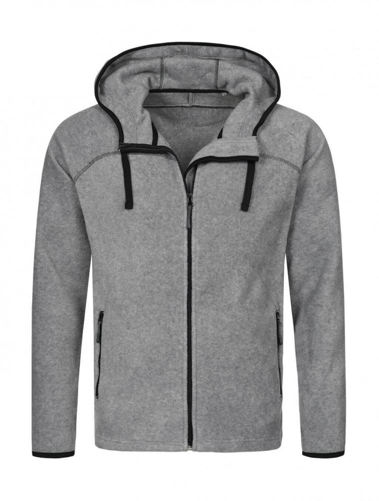 Férfi hosszú ujjú pulóver Stedman Power Fleece Jacket XL, Heather szürke