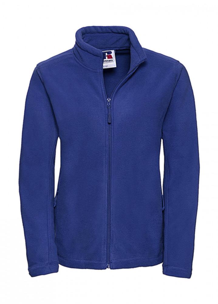 Női hosszú ujjú polár Russell Europe Ladies' Full Zip Outdoor Fleece 2XL, Világos királykék