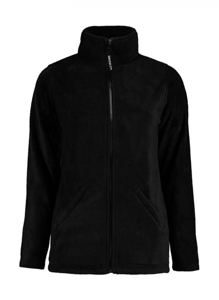 Női hosszú ujjú polár Kustom Kit Women's Regular Fit Full Zip Fleece S, Fekete