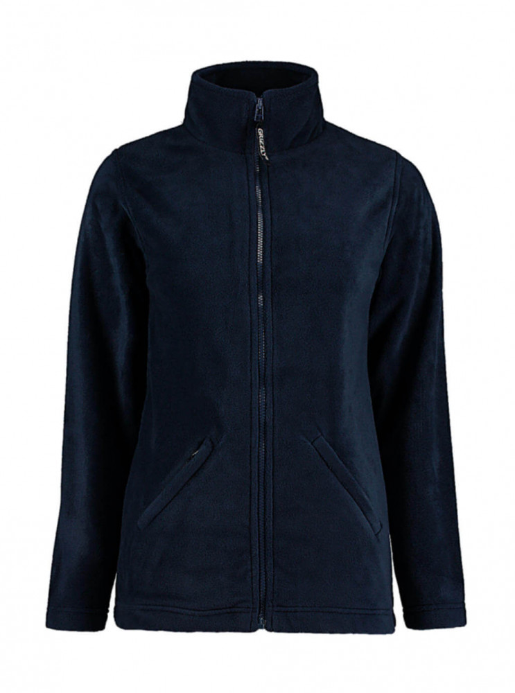 Női hosszú ujjú polár Kustom Kit Women's Regular Fit Full Zip Fleece XS, Sötétkék (navy)