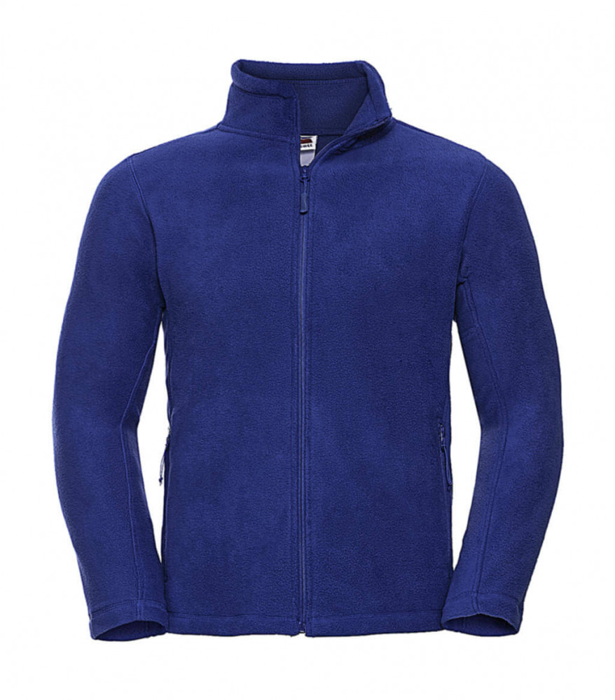 Férfi hosszú ujjú polár Russell Europe Men's Full Zip Outdoor Fleece XS, Világos királykék