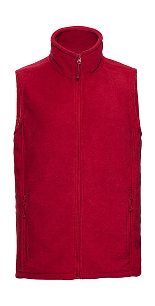 Férfi ujjatlan polár Russell Europe Men's Gilet Outdoor Fleece 2XL, Piros
