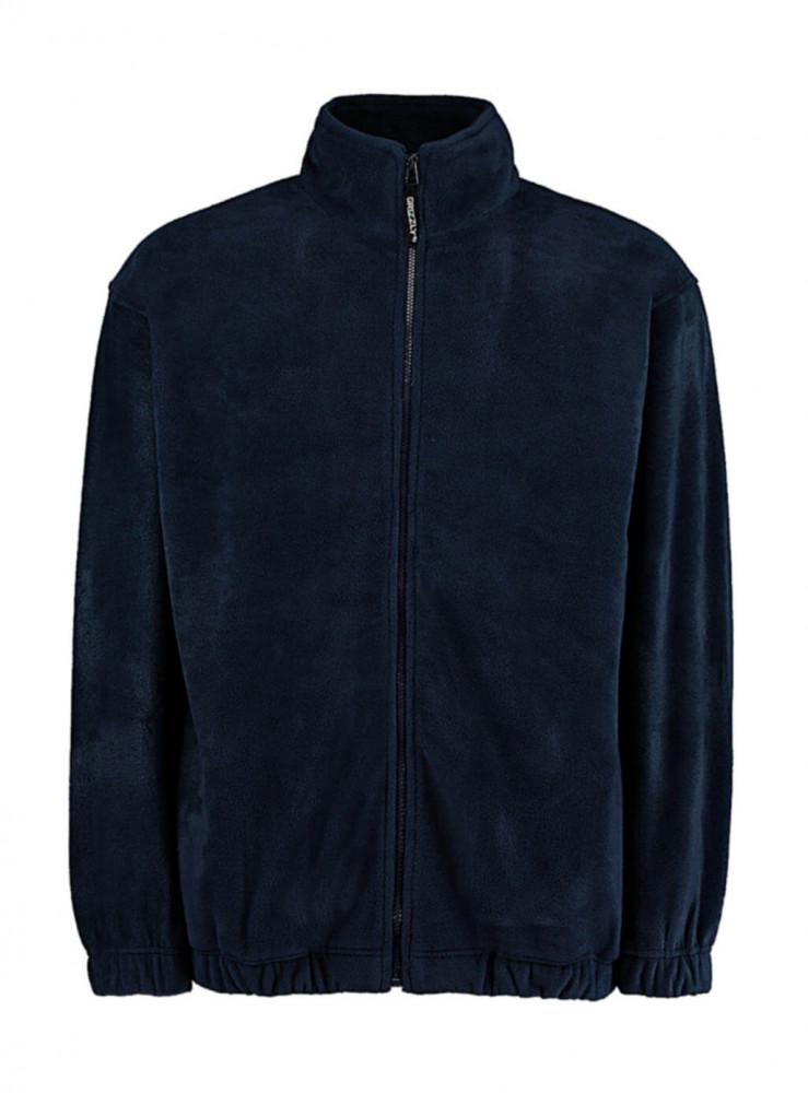 Férfi hosszú ujjú polár Kustom Kit Classic Fit Full Zip Fleece S, Sötétkék (navy)