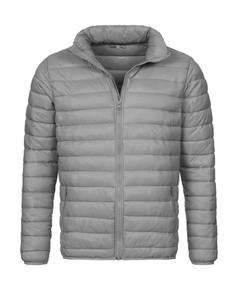 Férfi hosszú ujjú kabát Stedman Padded Jacket L, Világos szürke