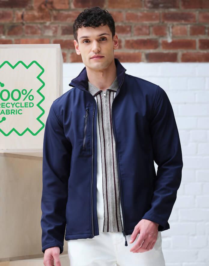Férfi hosszú ujjú kabát Regatta Honestly Made Recycled Softshell Jacket XL, Királykék új